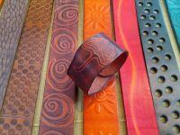 Kožený náramek  Ginko
